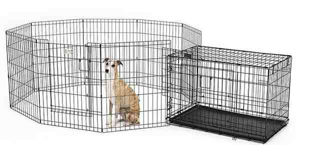playpen and crate combined