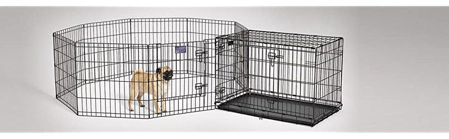 Crate and playpen combined